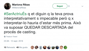 #SerActriuÉs de Mariona Ribas